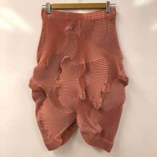 Issey Miyake red skirt size 2