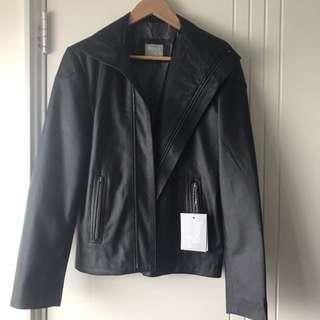 BNWT James & Co PU Leather Jacket Black