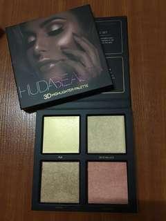 Huda 3D Highlighter Palette (Golden Sands)