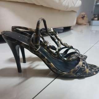 Cheetah Strappy Heels Sandals