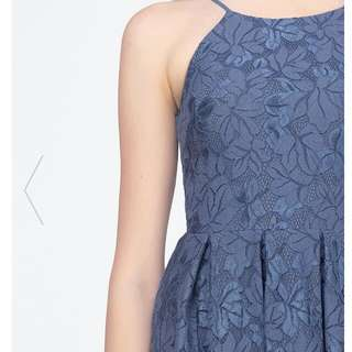 Fayth Anya Asymmetric Lace Dress