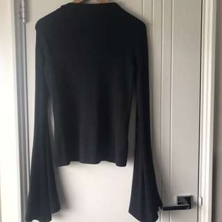 BNWT Misguided Flare Long Sleeve Top