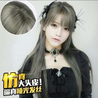 *ALL PREORDER * Korean ash grey Air fringe bang ladies wig *waiting time 12 days after payment is made*pm to order