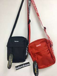 Supreme Shoulder Bag SS18 Black Red