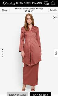 Butik Sireh Penang (salmon pink kebaya + skirt)