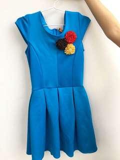 Dress Biru Bunga Anak