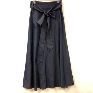 Tibi thin denim long skirt size 0