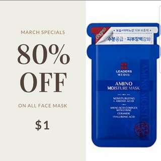 All face masks at $1 only