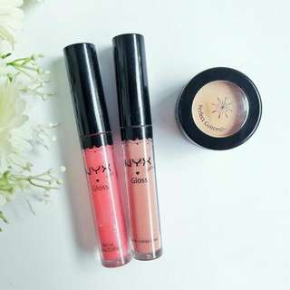 NYX LIP GLOSS & MISSHA PERFECT CONCEALER