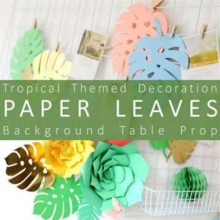 Tropical leaf decor