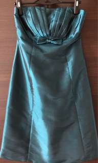Turquoise bustier dress
