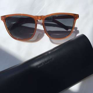 Saint Laurent Paris oversized orange square sunglasses 🌞 AUTHENTIC