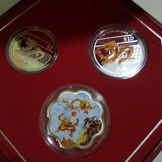 2010 lunar series dragon coin set