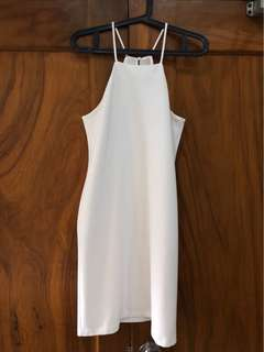 Mango White Halter Dress