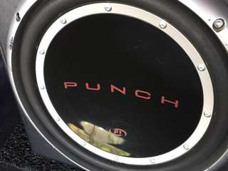 "Rockford punch 10"" subwoofer with amp"
