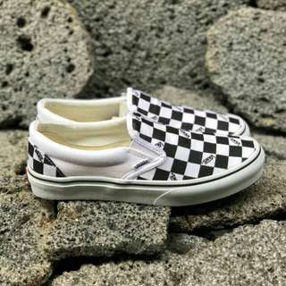 Vans Slip On Logo Checkerboard