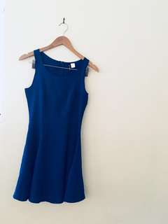 Blue short dress size 4-6