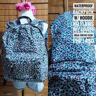 Waterproof with Hoodie Backpack Preloved