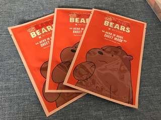Missha We Bare Bears masks