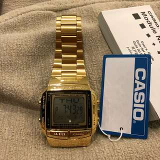 Vintage Gold Casio Watch