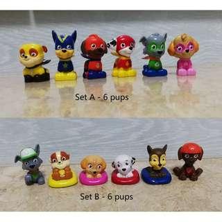 Nickelodeon Paw Patrol Mini Figurines / cake topper from Blind Bag Series