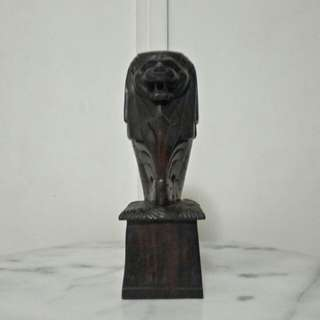 Bali wood carving merlion height 24.5cm perfect condition