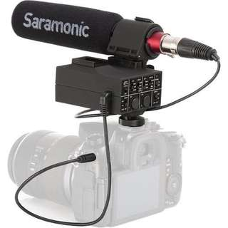 Saramonic MixMic Shotgun Microphone with Integrated 2-Channel Audio Adapter Kit