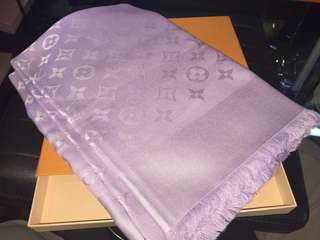 LV 純羊毛混真絲被肩 140 x140 全新購自巴黎 保證真品