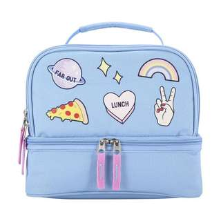 Patches Lunch Bag in Light Blue from Australia