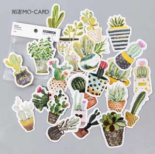 [Stickers] cactus stickers for diary and scrapbooking