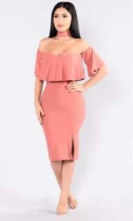 New Midi Off the Shoulder Dress size Small