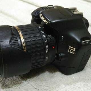 Canon 550D with Tamron 18-200 mm len