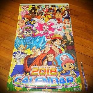 2018 anime calendar (new)