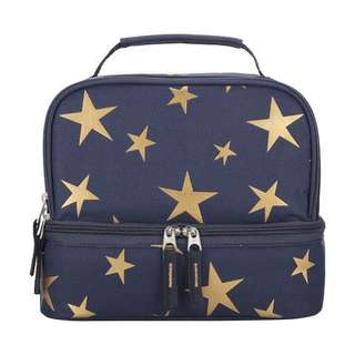 Gold Stars Lunch Bag in Dark Blue from Australia