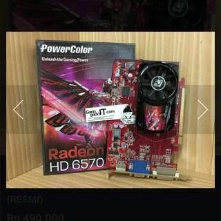 Punya VGA power color ati radeon HD 6570 DDR3 1Gb 128 bit ga kepake habis upgrade ke vga lain. Kondisi normal tak ada kendala,minus cuman dus doang ga ada
