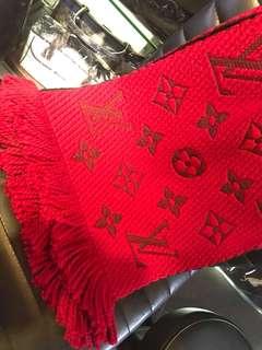 LV 純羊毛 圍巾175 x 30 全新購自法國 保證真品