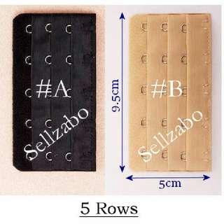 5/4/3/2 Rows Extend Bra Adjustable Length Hooks Straps Sellzabo Size Lingerie Longer Long Extentions Extensions #L17