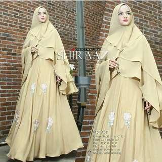SLF - 0318 - Dress Gamis Busana Muslim Wanita Salsabela Sari Maxy Busui Plus Khimar