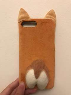 Furry Corgi's Ears and Butt iPhone 6P/7P case