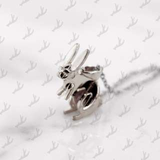Da Rabbit Pendant and Necklace (925 Sterling Silver) Da Things - 925 純銀肖兔吊咀連頸鍊