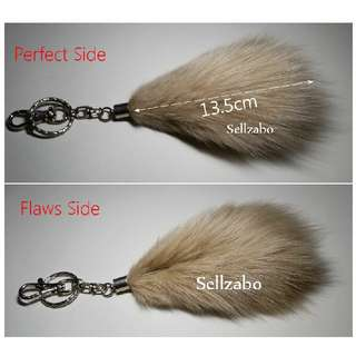 Beige/Black : Defect Furry Accessory With Key Chains Keychains Sellzabo Accessories