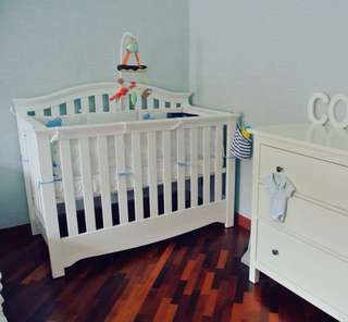 Baby Cot (Convertible - From Twins Baby shop)