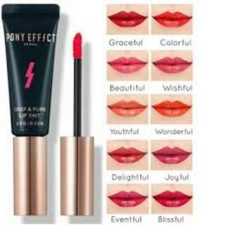 PONY EFFECT Deep and Pure Lip Tint #Blissful