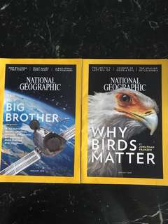National Geographic : Jan 2018 and Feb 2028 Issues (sold in a pack)
