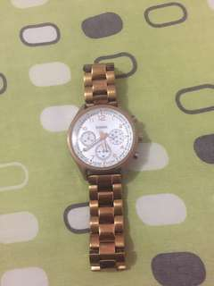 Fossil rose gold watch authentic