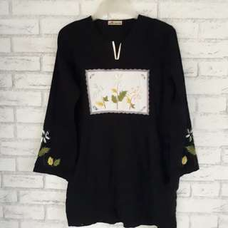 (Preloved) Tunik Hitam