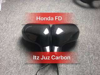 Honda FD Carbon side mirror assembly