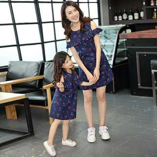 Mummy and daughter Floral dress