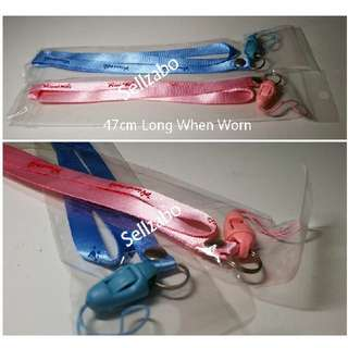 Couples Lanyard/Hp Neck Straps Pink Blue Colour Sellzabo Accessories