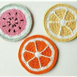 Fruity Pot Holders Crochet